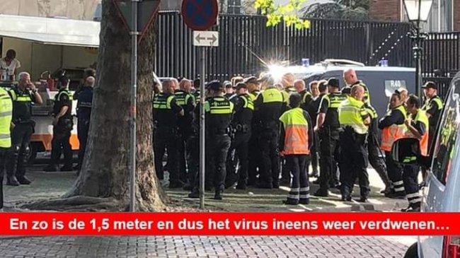 Bij patatkraan raadselachtig verdwenen Corona Virus (foto Twitter)
