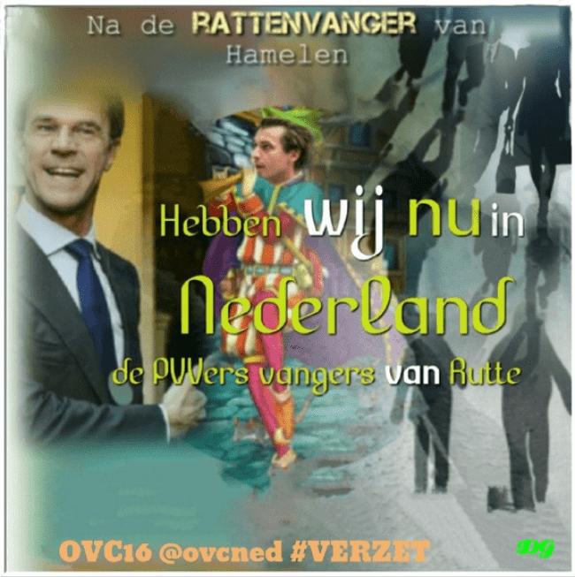 De PVV Vanger van Rutte (foto Twitter)