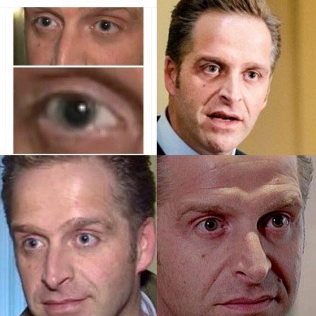 Freaky eyes Hugo de Jonge (foto Twitter)