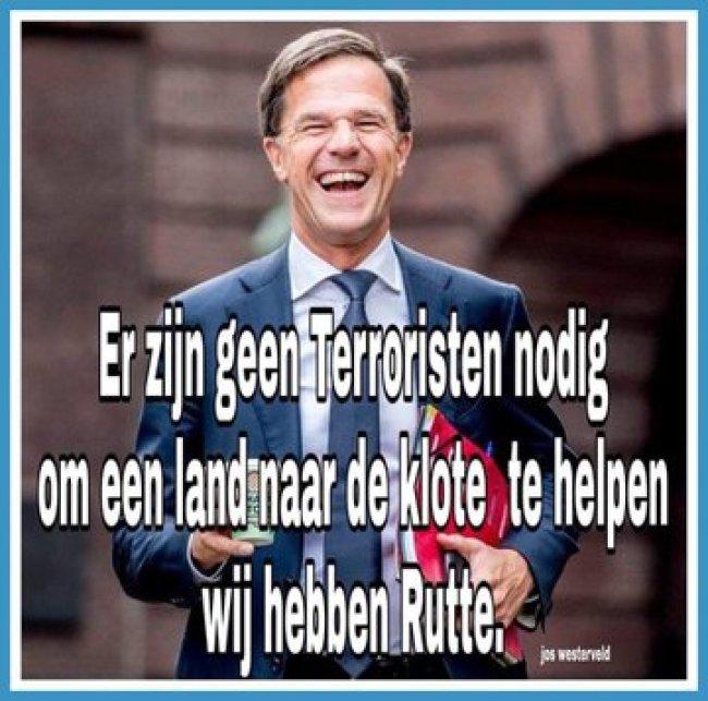 Geen terroristen nodig, om het land naar de klote helpen (foto Twitter)