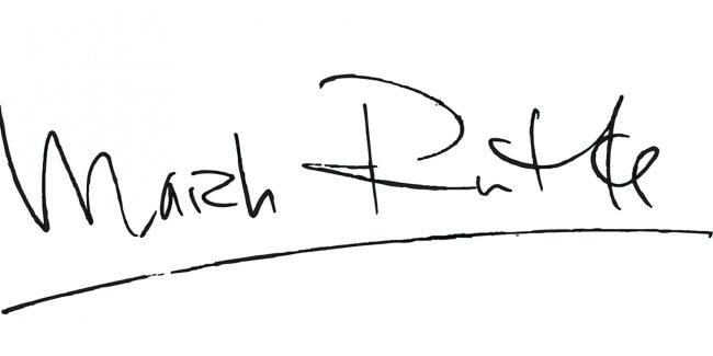Handtekening van Mark Rutte (foto Twitter)