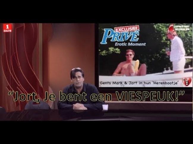 """""""Jort, je bent een viespeuk"""" zegt Ing Steve Brown (foto YouTube)"""