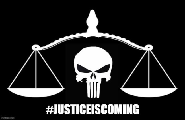 Justice is coming (foto Twitter)