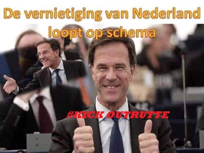 Kick out Rutte (foto Twitter)
