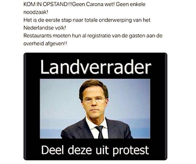 Landverrader (foto Twitter)