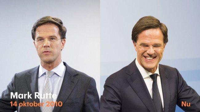 Mark Rutte 2010 - 2020 (foto Twitter)