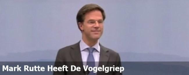 Mark Rutte heeft de Vogelgriep (foto Twitter)