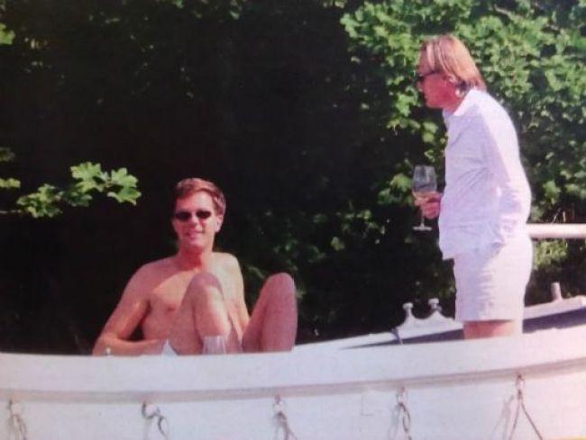 Mark Rutte met Jort Kelder aan boord (foto Pinterest)