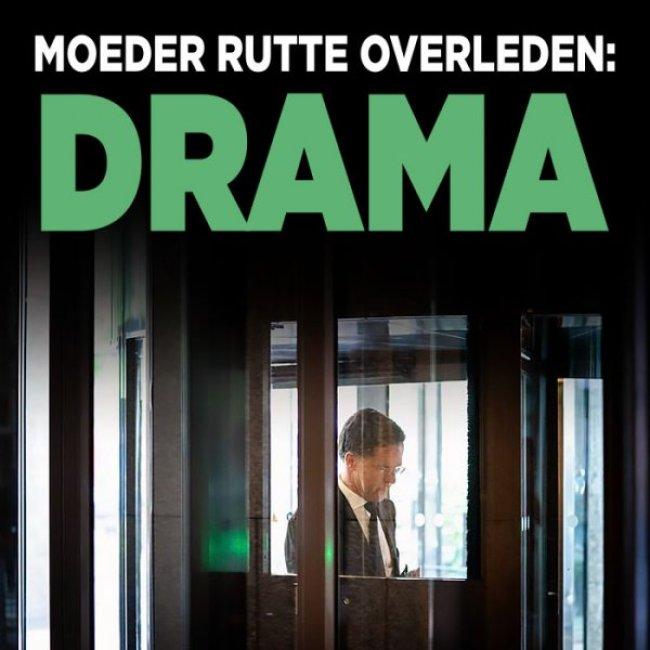 Moeder Rutte overleden DRAMA (foto Twitter)
