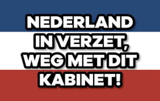 Nederland in verzet | Weg met dit kabinet (foto Twitter)