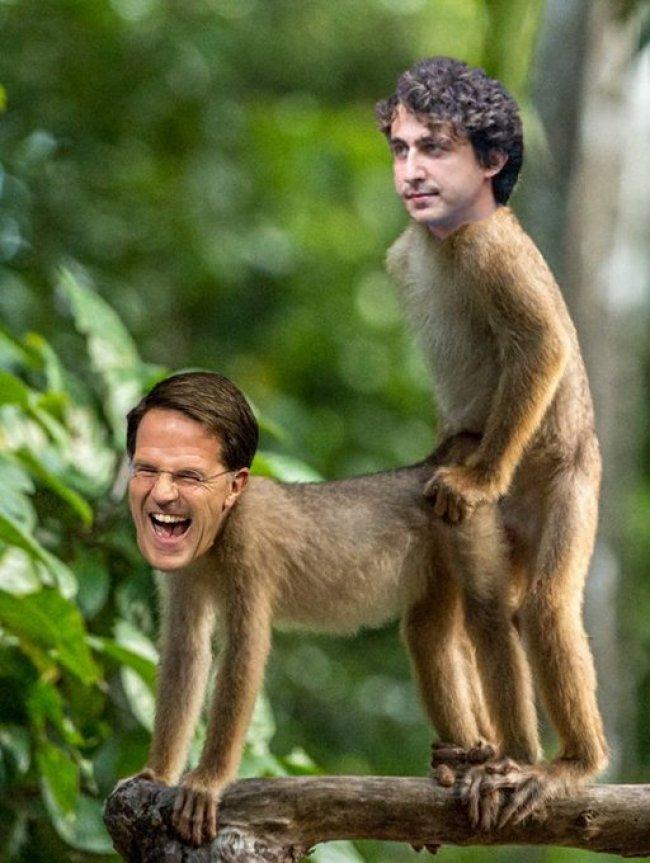 Rutte & Klaver intiem (foto Twitter)