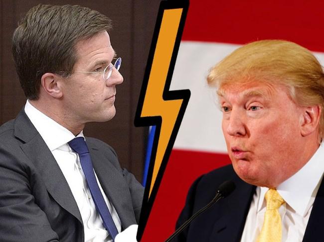 Rutte & Trump (foto Dutch Review)