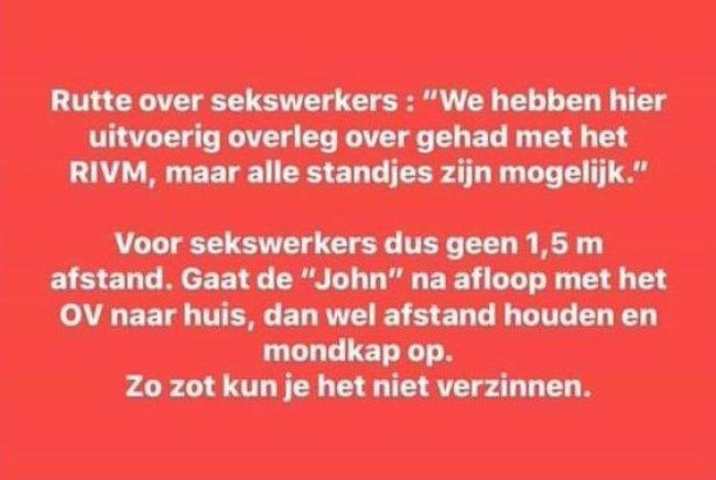 Rutte over sekswerkers (foto Twitter)