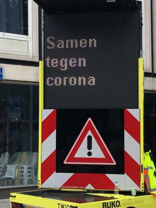 Samen tegen Corona Virus (foto Twitter)
