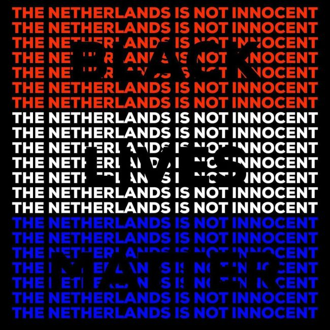 The Netherlands is not innocent (foto Black Lives Matter)