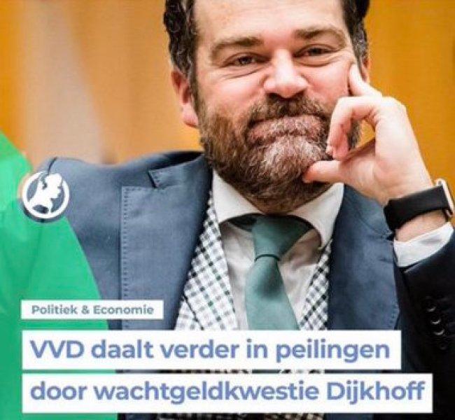 VVD daalt verder in de peilingen (foto Twitter)