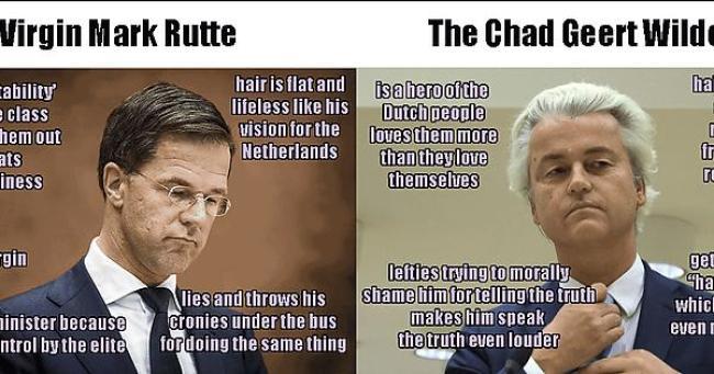 Virgin Mark Rutte & The Chad Geert Wilders (foto Imgur)