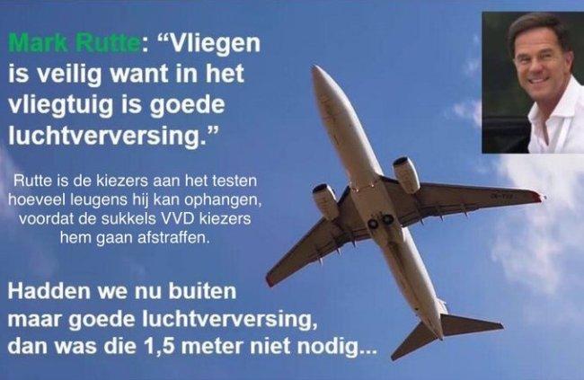 Vliegen is veilig (foto Twitter)