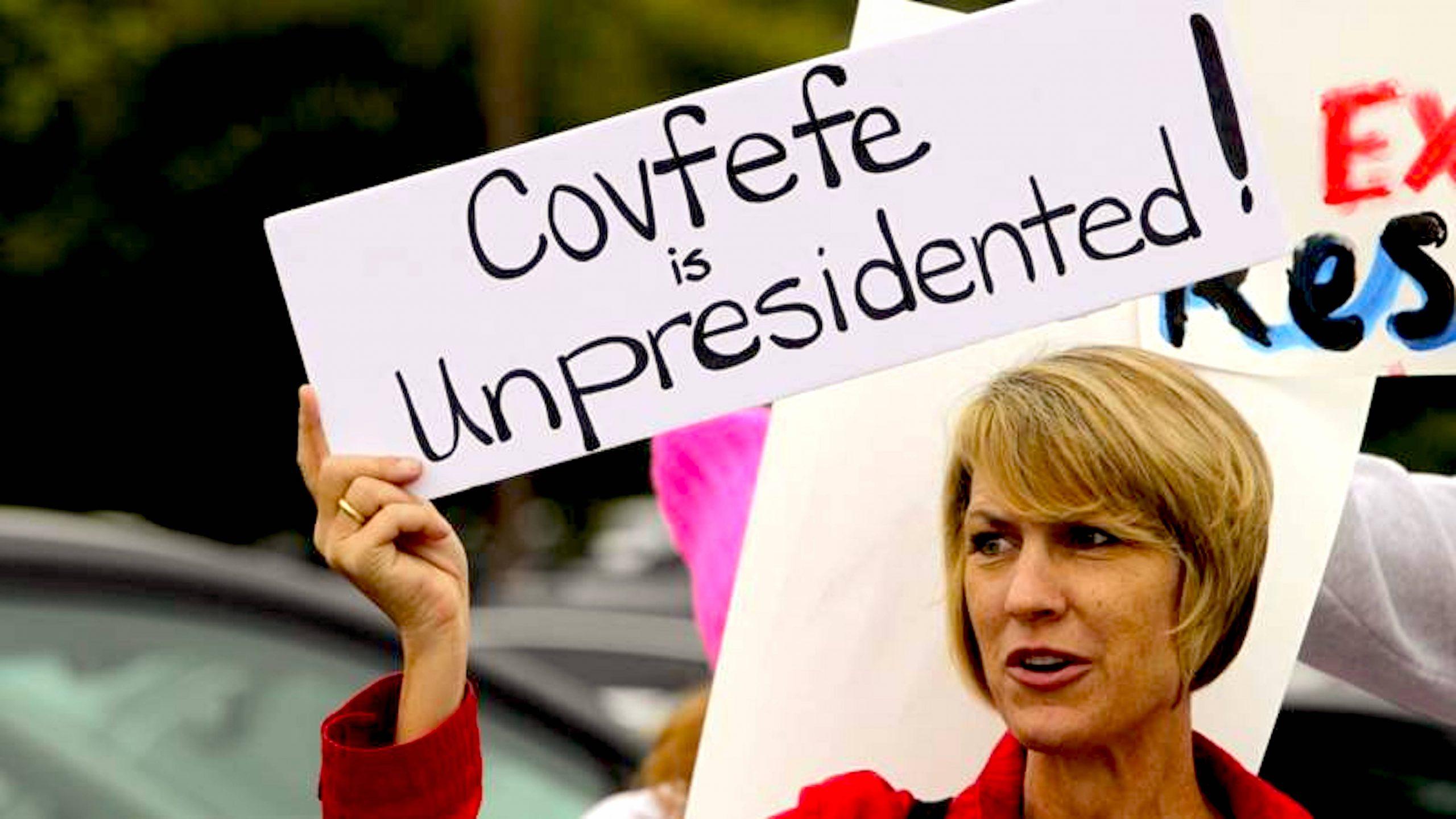 Covfefe Unpresidented (foto NOS)