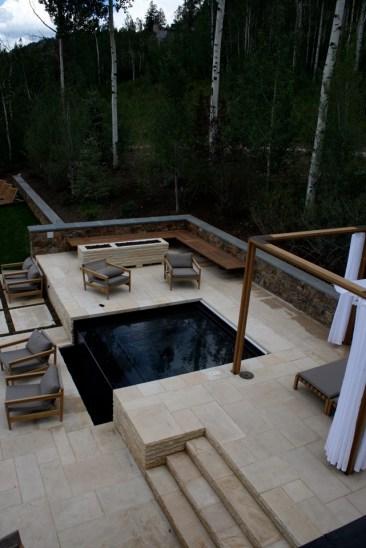 Swimming Pool Therapy Spa Hot Tub Blue Interior Finish Automatic Pool Cover Inset Hot Tub Custom Swimming Pool Aspen Colorado