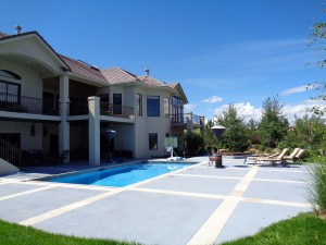 Swimming Pool Stone Decking Blue Pool Finish Stone Coping