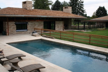 Swimming Pool Stone Decking Dark Blue Pool Finish Stone Coping