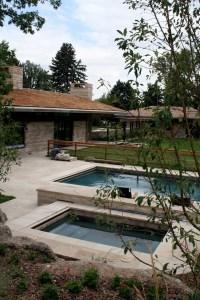Swimming Pool Stone Decking Dark Blue Pool Finish Stone Coping