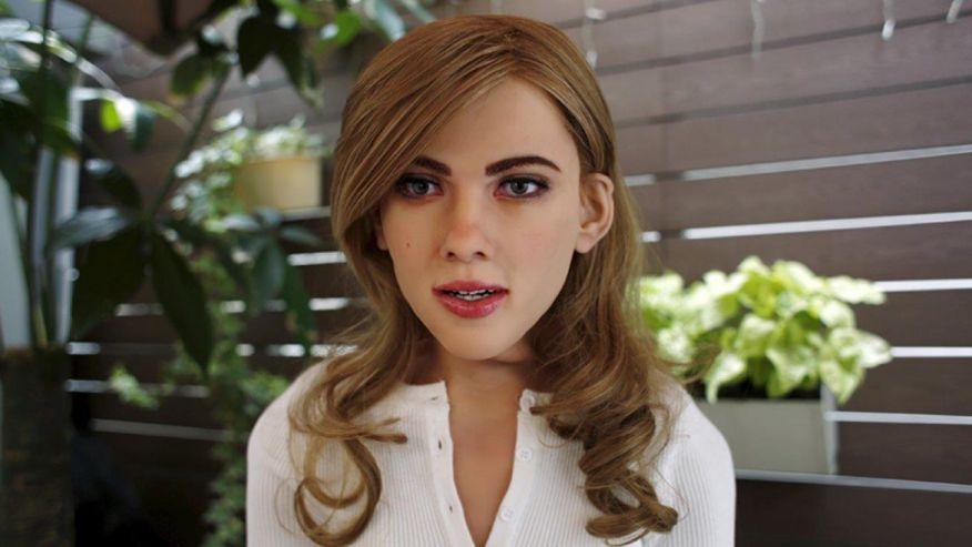 Robô baseado na Scarlett Johansson