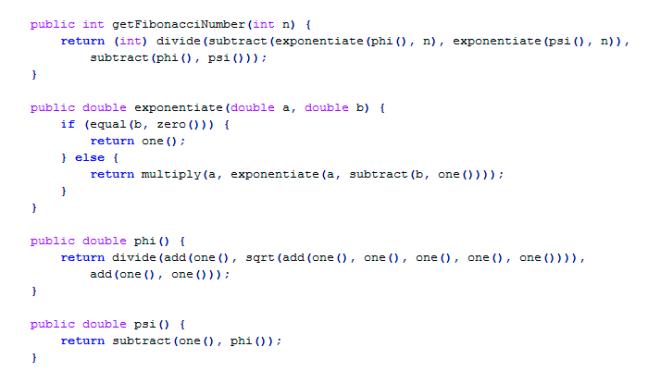 Código em feito por um Ph.D em matemática