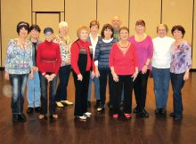 The line dance group