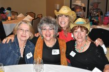 Cowgirls having fun: Pam, Mary Alice, Janelle and Lore