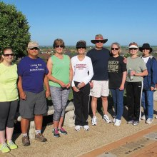Steadfast walkers in spite of the recent spate of thunderstorms