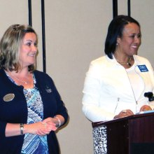 Veronica Woods, Brookdale Assisted Living, and Kimberly Reed, Good Samaritan Society, address continuum of care options.