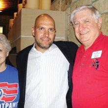 Eric Maddox with Barbara and Charles Runner