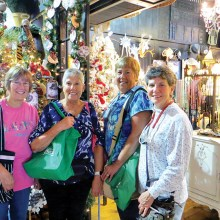 Exploring the ultimate flea market: Nancy Burns, Susan Hebert, Lois Reinhardt and Vicki