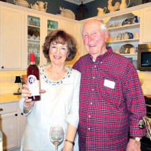 Diane and Barry Williams celebrating the season with good food, good wine and greater friends