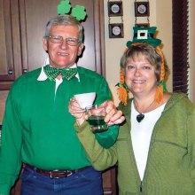 Randy and Debbie Johnston host a Blarney Blast.
