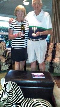 John and Jane Thompson brought the winning wine.