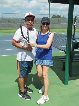 Runners up Jesse Cardenas and Liz Tesoriero