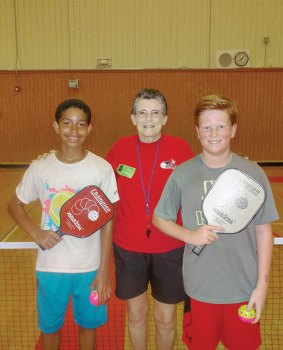 Argyle Intermediate School 6th grade pickleball tournament players