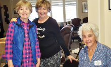 Rosemary Weinstein, Valerie Tarren and Bernadette Fideli welcome new members.