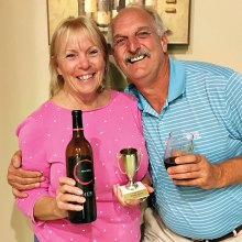 February winners, Susan and Mike Miloser