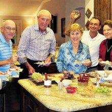 Left to right: Eileen Whittaker, Mike Aramanda, Jim Fox, Cherie Snowden, Luis Montano, Millie Aramanda and Pete Toppan