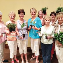 "Members took advantage of the ""plant exchange."""