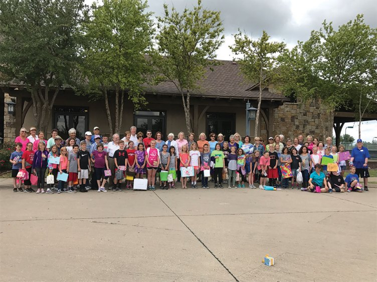"The Robson Ranch ""pal"" volunteers with their fourth graders"