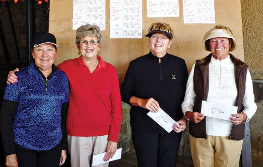Third Flight winners from left to right: Brenda Alford, Juan Del Tillman, Darlene Lamb, Donna Phillips