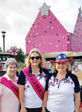 Princesses Barb Holst, Rose Depot and Virginia Wheeless.