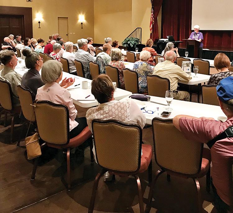 Workshop participants taking note.