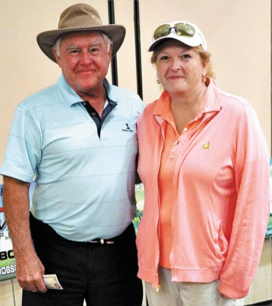 Gary Gordon and Rose Depoe, putting contest winners