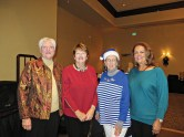 2020 RRWGA Executive Board Members: Althea Parent, Darlene Lamb, Maureen Sullivan, and Marlene Womack as proxy for Lucy Oberholser